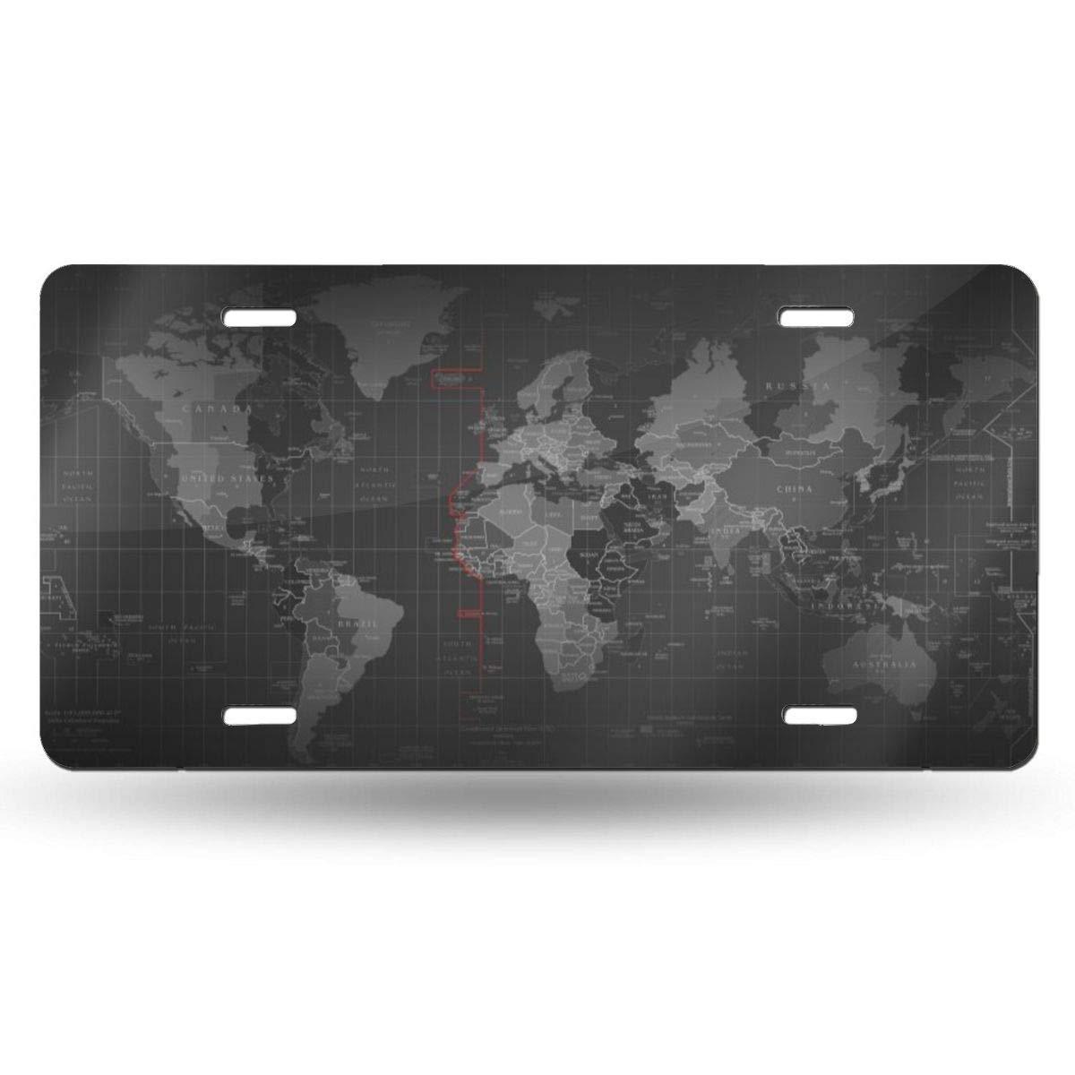 PIOPIEK World Latitude and Longitude Map US License Plate ...