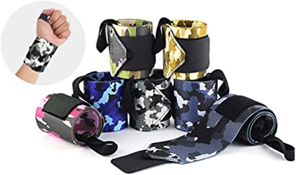 Fitness Weight Lifting Wrist Guard Camouflage Elastic Sports Wristband Wrapped