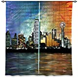 DiaNoche Designs Window Curtains Lined from Unique, Decorative, Funky, Cool by Corina Bakke – Dallas Skyline Review