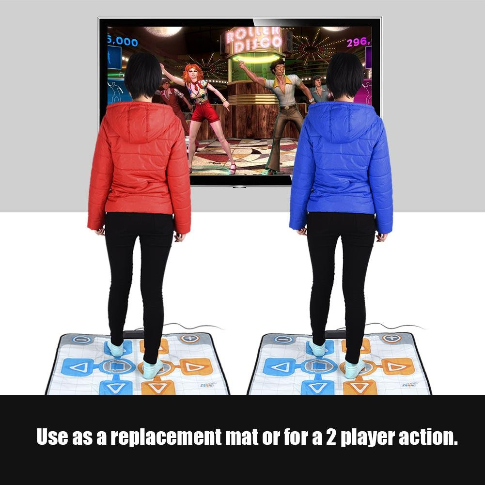 Double Person Dancing Mat,Non-Slip Game Dance Pads for Nintendo Wii Console Game,Plug and Play for 2 Player by Tangxi (Image #3)
