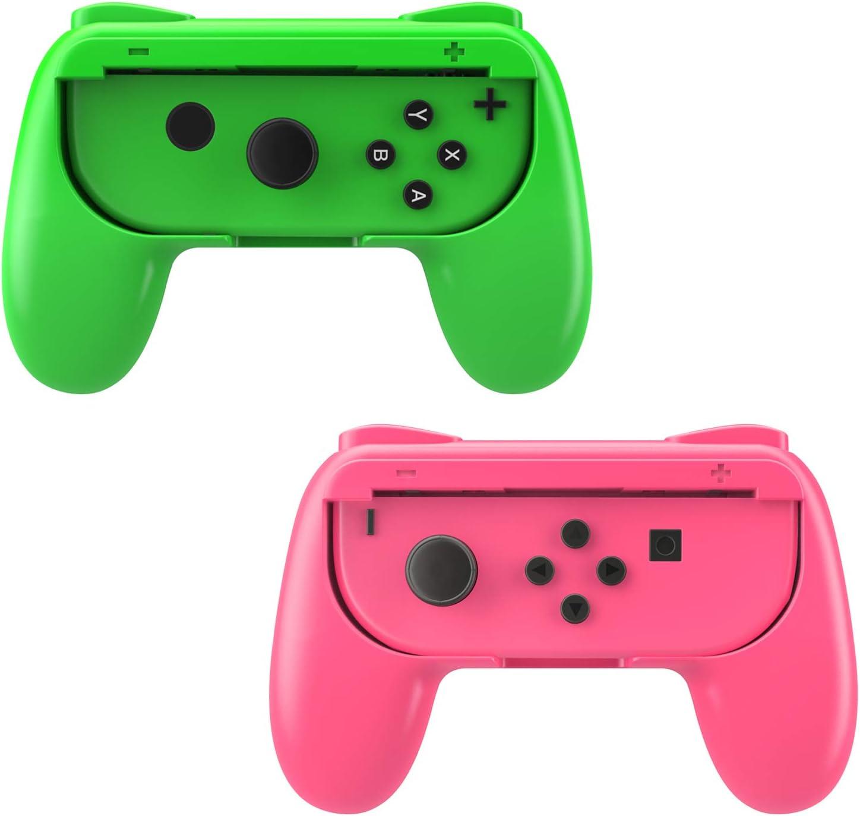 MoKo [2PZS Grips Compatible con Switch Joy-con ABS, Kit de Manija ...