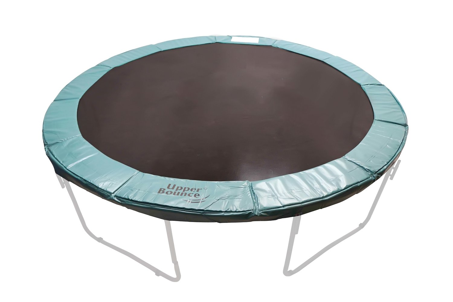 Upper Bounce 12' Super Trampoline Replacement Safety Pad With Spring Cover Fits 12 FT Round Trampoline Frames With 10 wide In Green Color by Upper Bounce