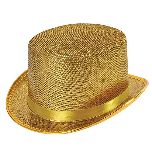 Bristol Novelty BH467 Top Hat Gold Lurex, One Size