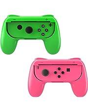 MoKo Nintendo Switch Joy Con Griff Gaming Controller -[2 Stück] Komfort Gamepad Controller Grips für Nintendo Switch Joy-Con, Rosa und Grün