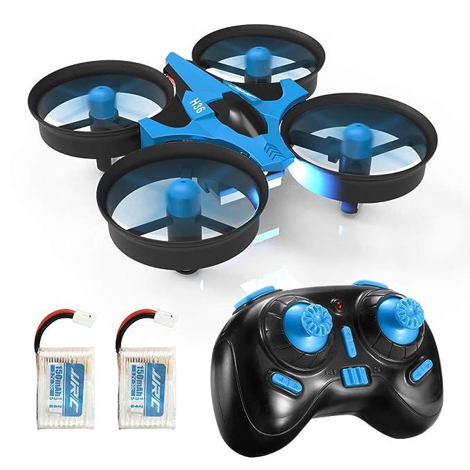 REDPAWZ JJRC H36 Mini Drohne RC Drone für Kinder und Anfänger mit 2-teiligem Akku,Headless-Modus Helikopter 2.4G 4CH 6Axis Gy