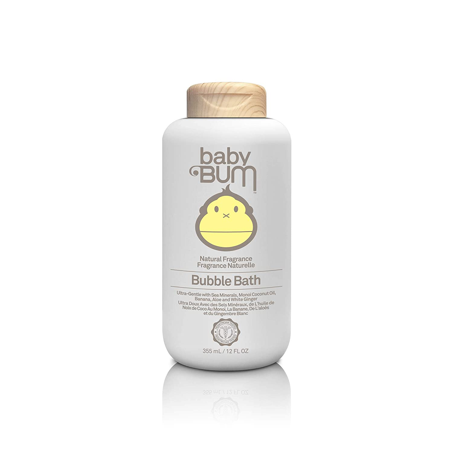 Sun Bum Baby Bum Bubble Bath Natural Fragrance, 355 mL, 1 Count, Hydrating, Hypoallergenic, Artificial Fragrance Free, Tear Free, Vegan, Dermatologist Tested, Pediatrician Tested