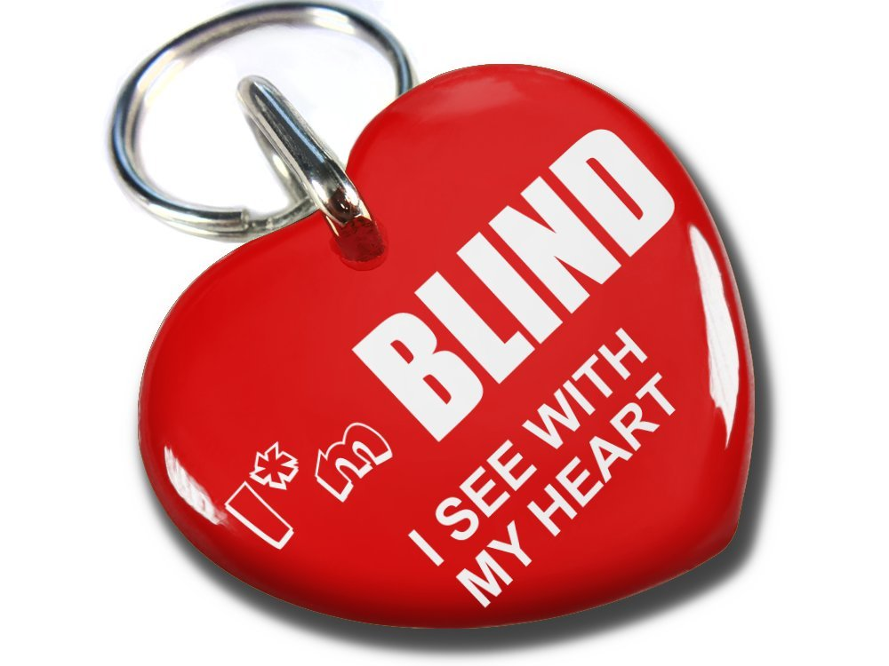 ID4Pet Service Dog Id Red Heart I'm Blind (Regular 1.00'')