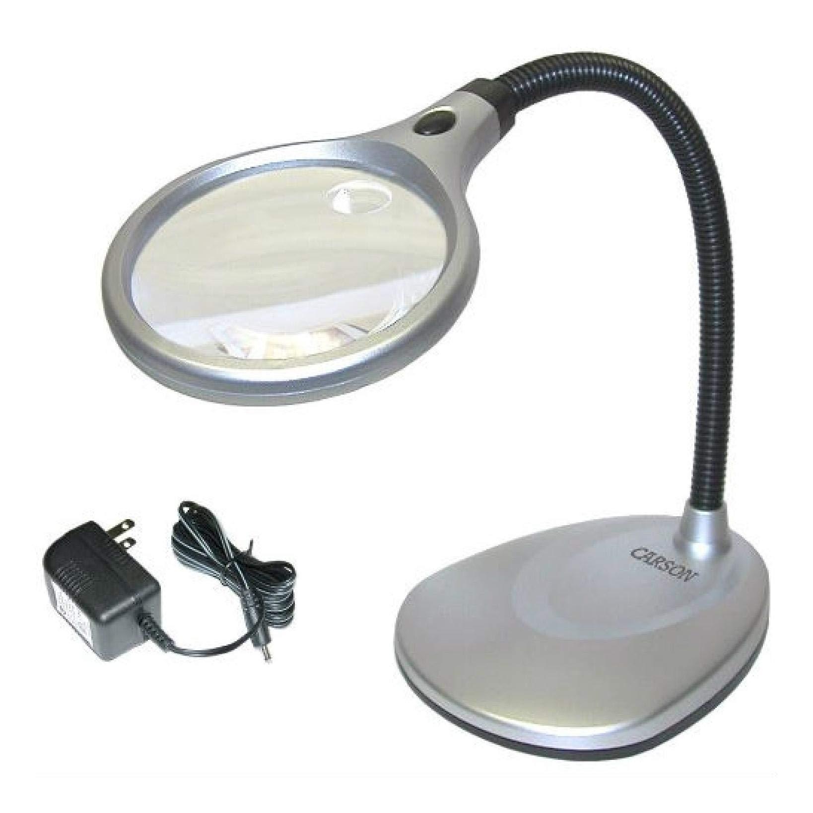 LED Illuminated 2X Magnifying Glass/Desk Lamp, LED Illuminated 2X Magnifying Glass/Desk Lamp by HEATAPPLY