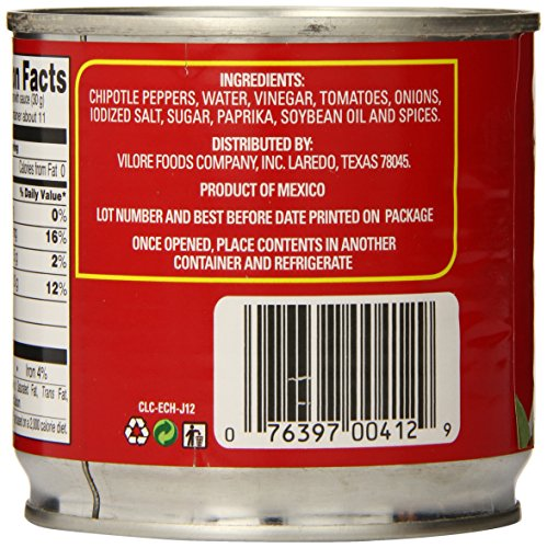 La Costena Chipotle Peppers, 12 Ounce (Pack of 12) by LA COSTENA (Image #4)