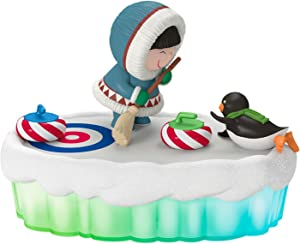 Hallmark The World of Frosty Friends Fun and Games Curling Light and Music Sports & Activities