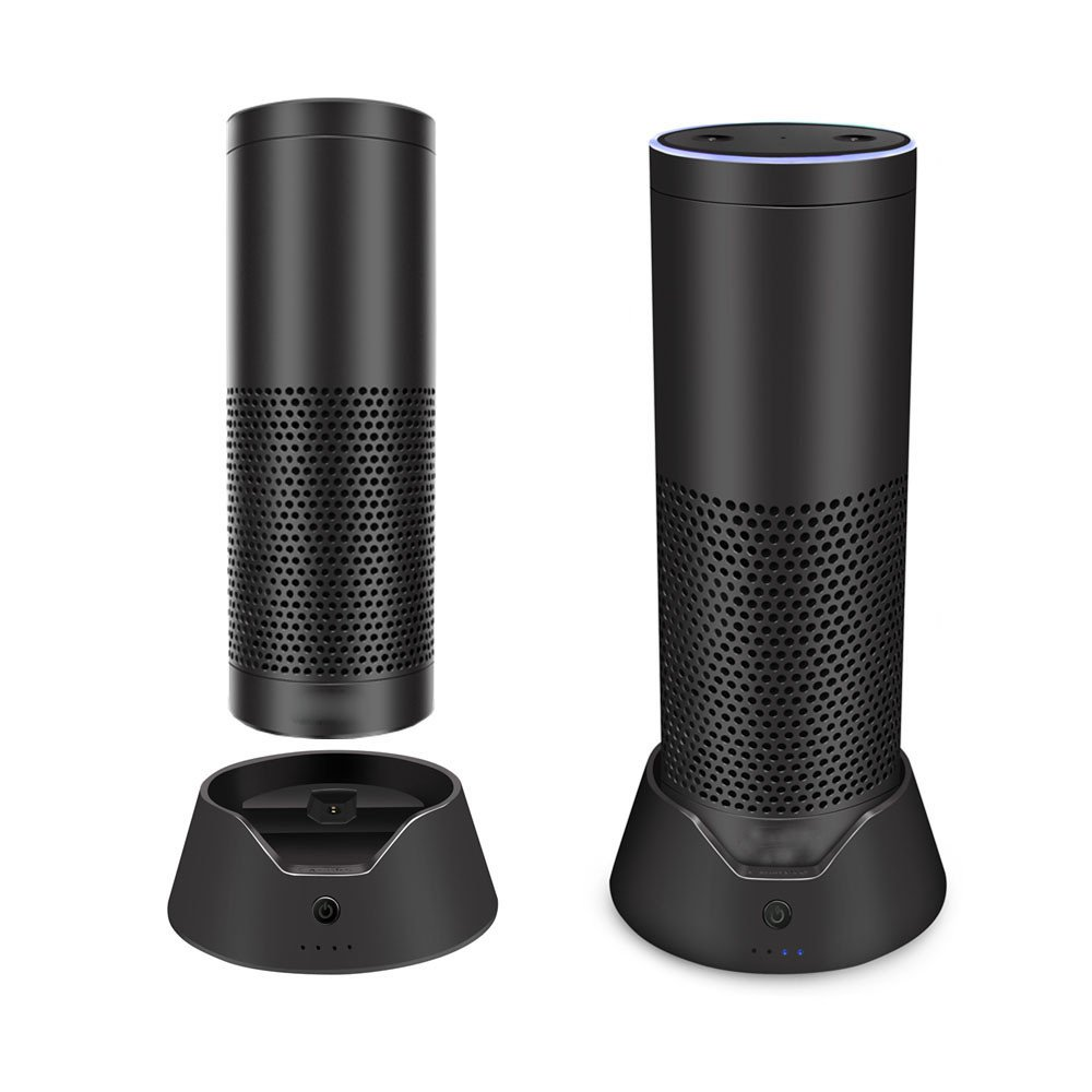 Allegro Huyer Echo Battery Base Bluetooth Speaker USB Dock Base Charger Charging Data Cable for Amazon Echo
