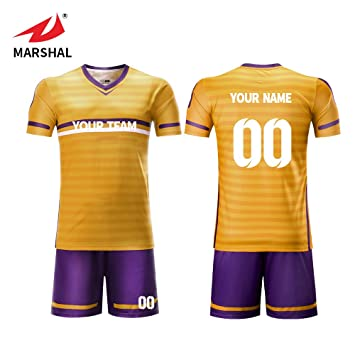 3cb427523 ZHOUKA custom sublimation soccer jersey design your name and logo (Gold