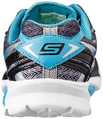 Skechers Kids 95695l Go Run 4 Loopschoen (klein Kind / Groot Kind) Gunmetal / Blauw
