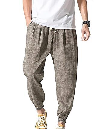Pantalones Livianos De Los Esencial De Pantalones Hombres Lino ...