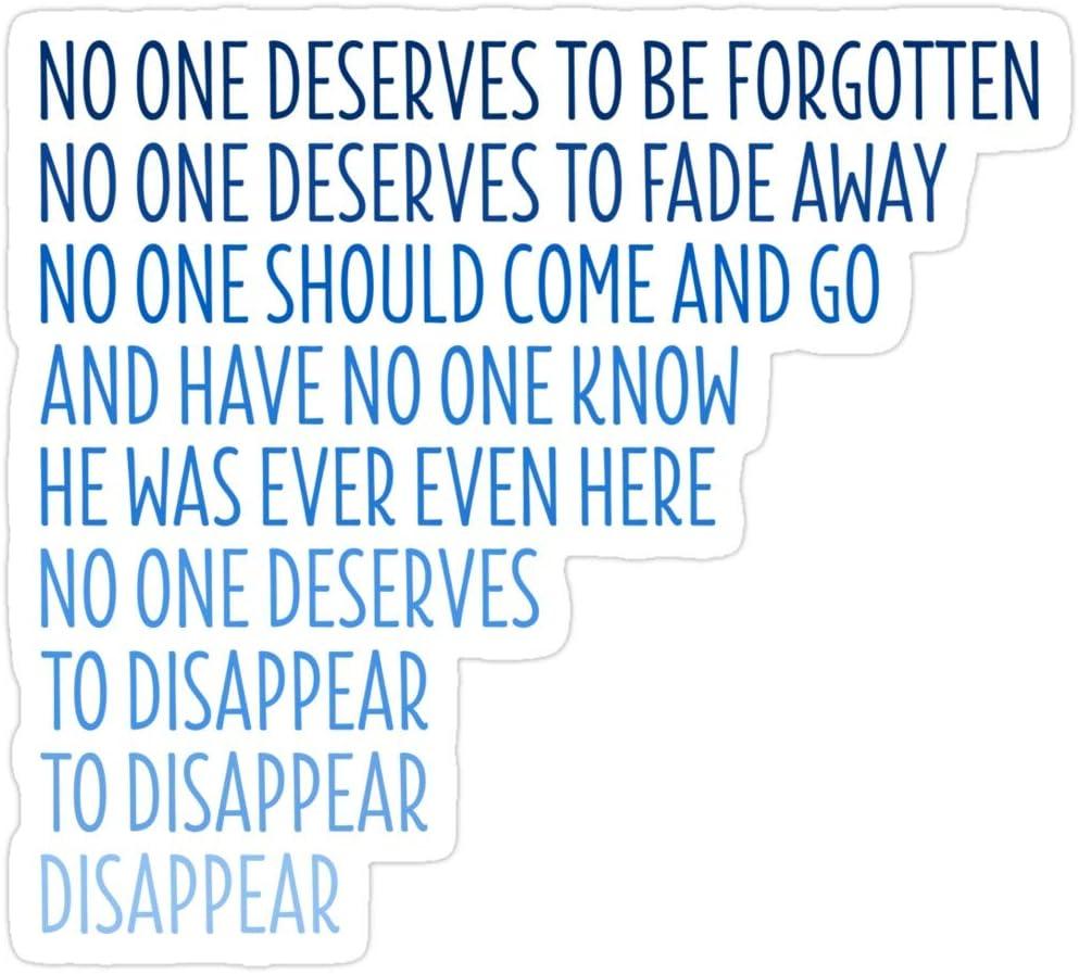 B. Strange Mall Dear Evan Hansen: Disappear Stickers (3 Pcs/Pack)