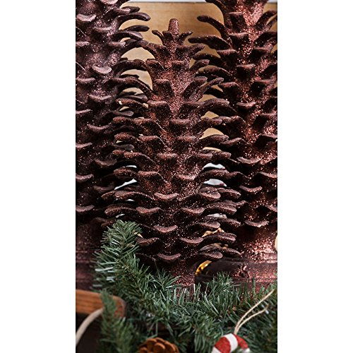Holiday Glitter Pine Cone Small Topiary