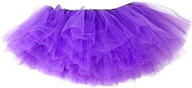 Xmiral Mujer Mini Falda Tutu de Ballet para Carnaval Danza ...