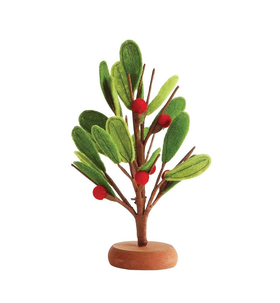 Heart of America Felt Tree With Berries MDF Base Red & Green - 3 Pieces