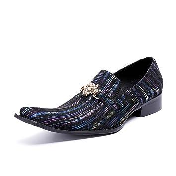 GLSHI Zapatos de hombre Mocasines y Slip-Ons de cuero Confort Oxfords para ocasiones informales