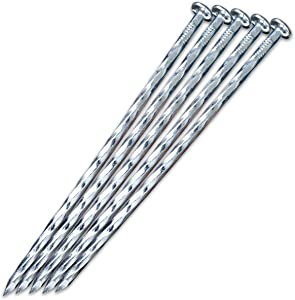 "EISENSP 80 Pack - 6.3"" Galvanized Metal Edging Spike, Garden Spiral Landscape Piles/Anchors for Paver Edging, Weed Barriers, Turf, House Construction, Carpentry Nail, Artificial Turf and More"