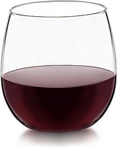 Libbey Vina Stemless Red-Wine Glasses (16.75oz/Set of 4)