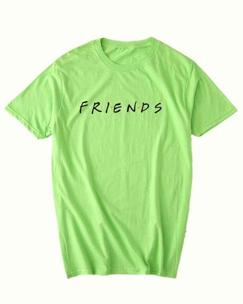 Dutoz Womens Friends TV Show T Shirts Summer Casual Short Sleeve Graphic Shirt Tees (Green M)