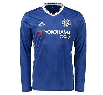 promo code 5b51f 144e0 adidas Men's Chelsea 16/17 Long Sleeve Home Chelsea Blue/White Jersey