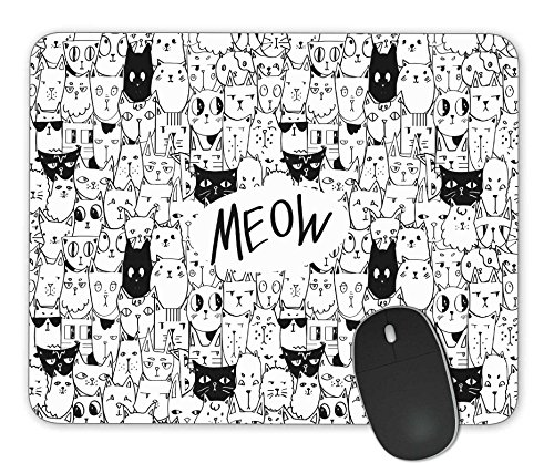 Hand Drawn Doodle (Doodle hand drawn cats seamless vector pattern Mouse Pad Office Mouse Pad Gaming Mouse Pad)