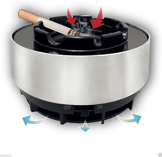 Cenicero aspirafumo pilas aspira humo olor aspirador eléctrico Escritorio: Amazon.es: Hogar