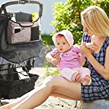 Best Universal Baby Jogger Stroller Organizer Bag / Diaper Bag with Superior Quality, Multifunction & Multi Colours. Extra Storage Space for Organize the Baby Accessories and Your Phones. (GREY)