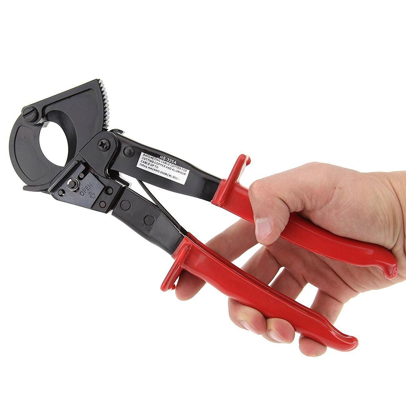 Vzer Coupe-c/âble /à cliquet pour couper du fil jusqu/à 240/mm2 outil manuel