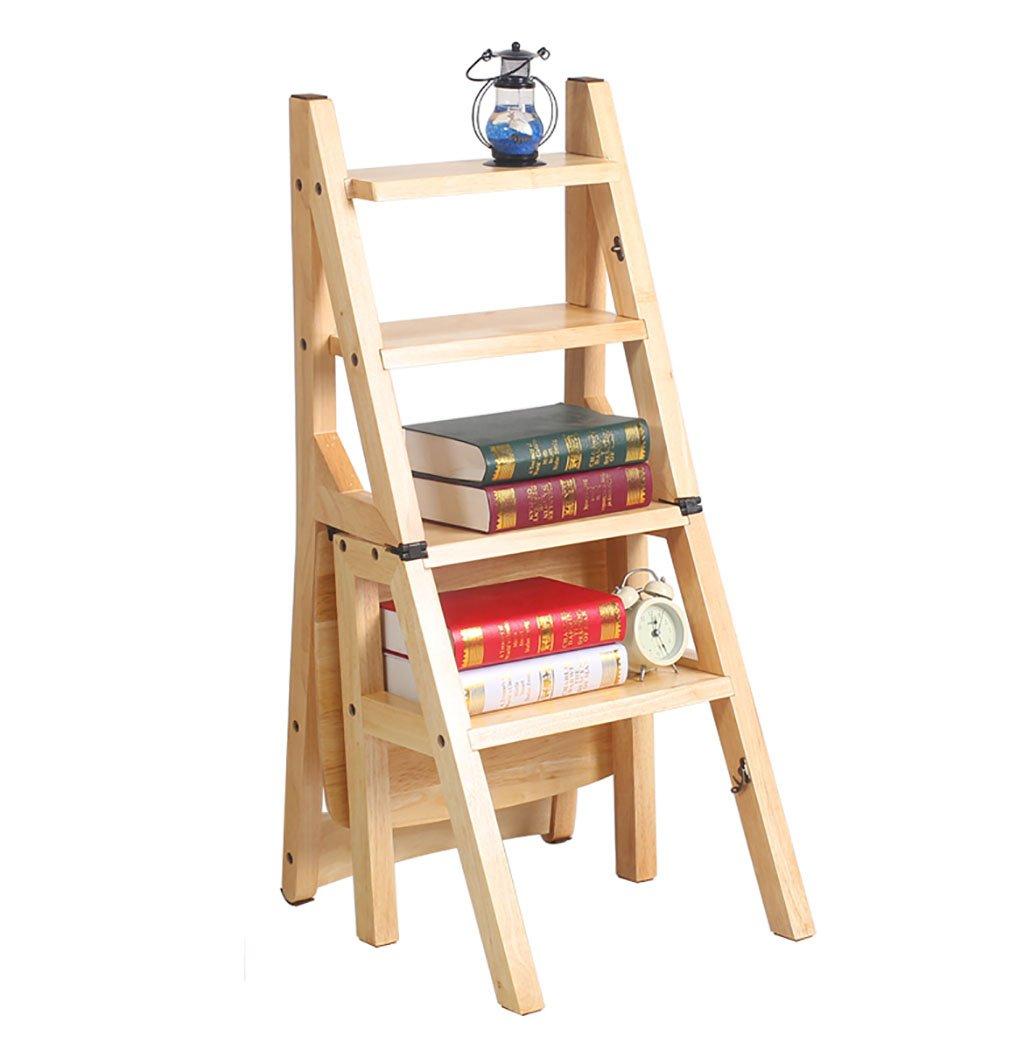 Chair QL chaise pliable Chaise escamotable multifonctionnelle de chaise pliante en bois solide - chaise d'escalier