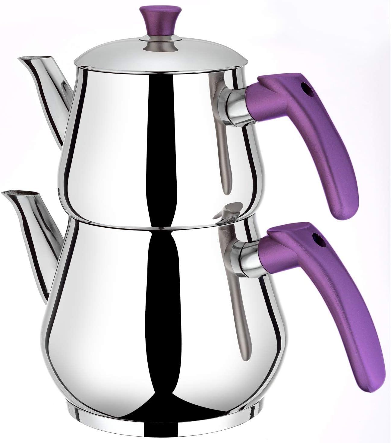 Induktion Teekanne Teekocher 2,0 L und 0,9 L Korkmaz A078-01 Kappa Caydanlik