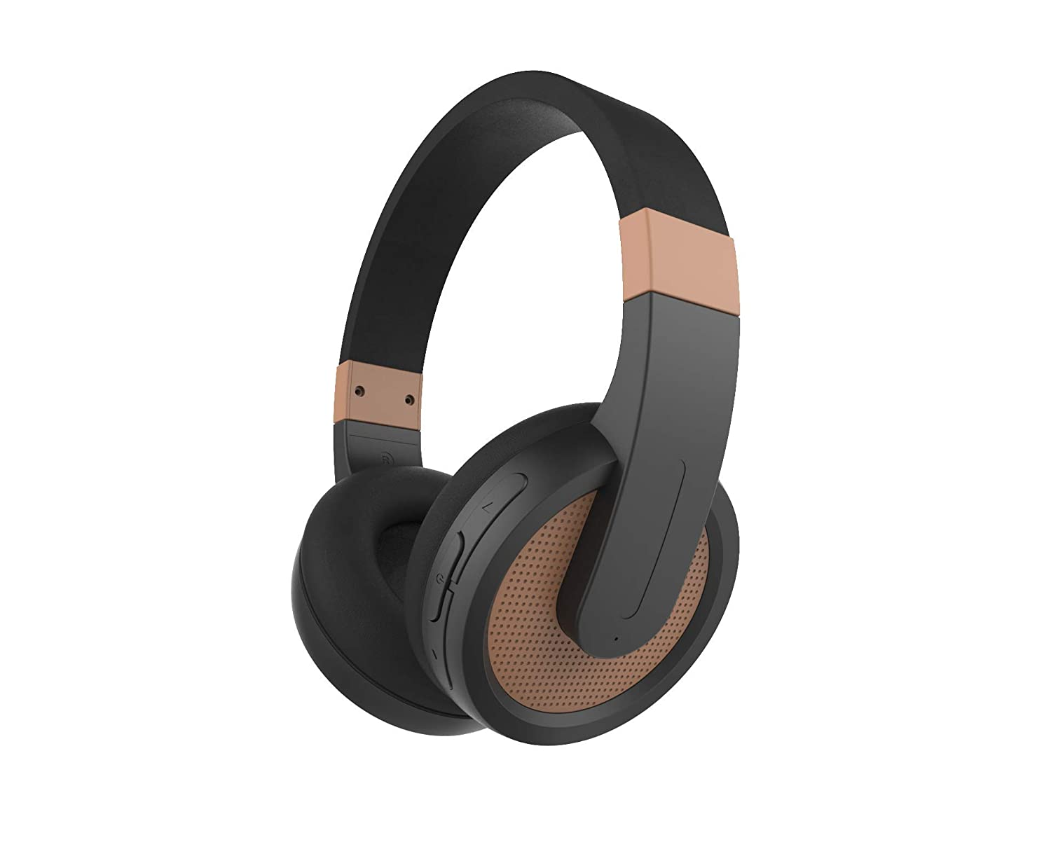 Sylvania SBT274 Bluetooth Stereo Fashionable Gaming Headphones - Supports Bluetooth 4.2 and A2DP - Built-in Microphone - Side-Mounted Controls (Copper)