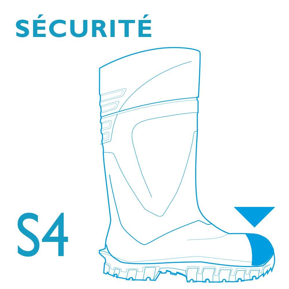 Bottes de s/écurit/é pour hommes et femmes application dans lagriculture garantit une excellente adh/érence embout en acier pour plus de s/écurit/é et protection isolation-30 degr/és vert
