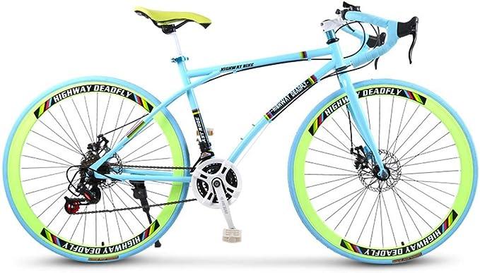 ZTYD Bicicletas Carretera, de 24 velocidades de 26 Pulgadas ...