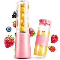 Blusmart Mini Standmixer, Smoothie Maker, 150 Watt, 2x280ml BPA-freie Tritan Flasche mit Deckel, Pink