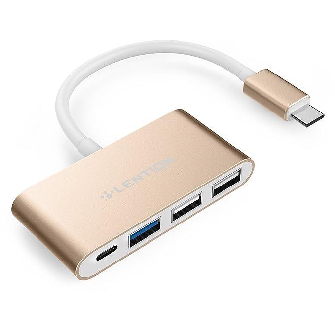 53 opinioni per LENTION Hub USB-C con Type C Porte per Ricarica, USB 3.0, USB 2.0 per Nuovo