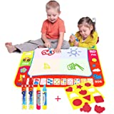 Water Drawing Mat Large 80*60CM Multicolour,AEVEA Magic Mat Water Drawing Painting Mat with 4 Magic Pen