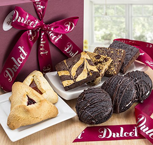 Dulcet's Thank You Cookie and Brownie Combo Gift Basket (Raspberry Walnut Cake)