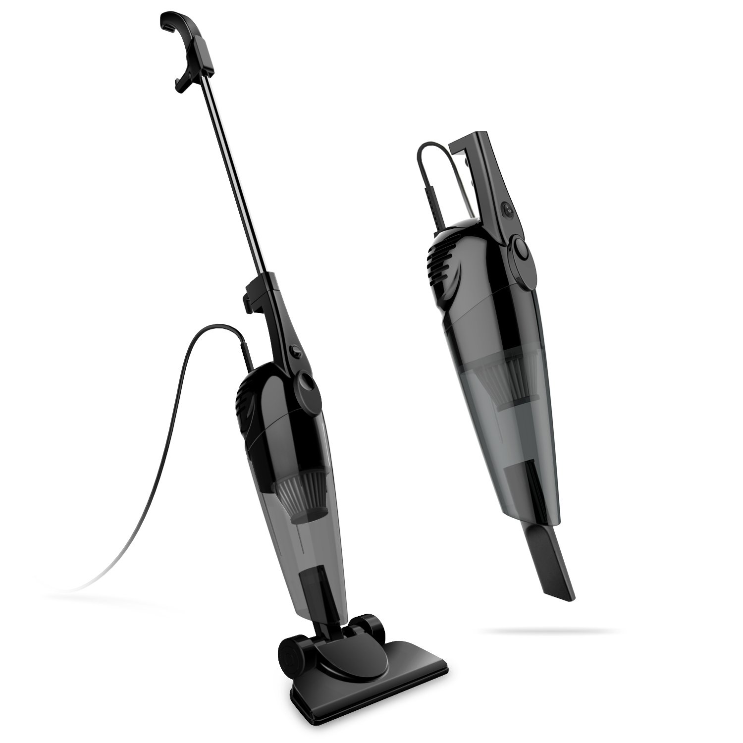 2 in 1 Stick and Handheld Vacuum 600W Corded Upright Lightweight Stick Vacuum and Handheld Vacuum Cleaner with HEPA Filtration Crevice Tool and Brush Accessories