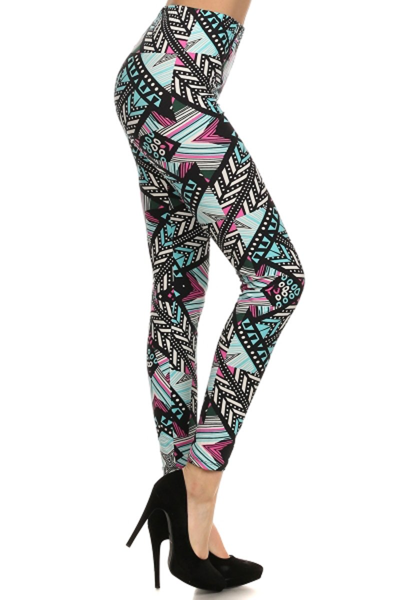 Print Leggings Through The Glass (N051-OS)