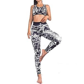 XiangYu Mujeres Conjuntos Yoga,Gimnasio Elástico Traje ...