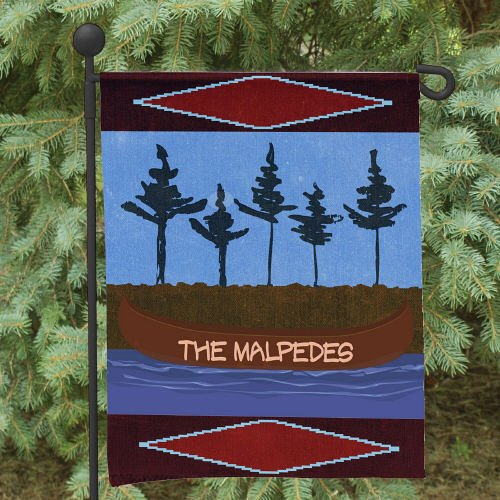 "Personalized Canoe Welcome Double Sided Garden Flag, 12 1/2"" w x 18"" h, Polyester"