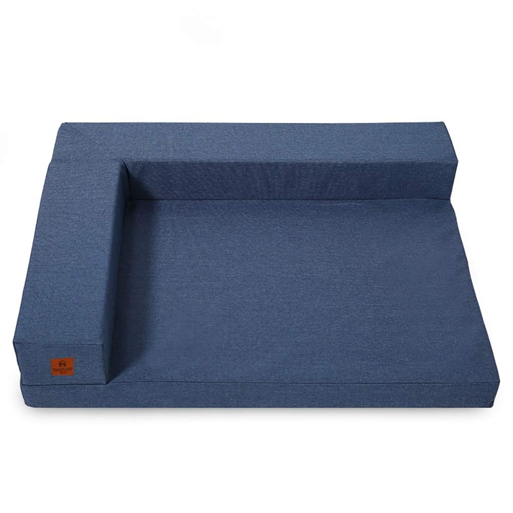 犬ベッド 洗える大型犬用ベッド、猫/犬用低反発ペットソファークッション(青) (サイズ さいず : XL 115×81×13cm) B07MY5SZ5F  L 94×72×13cm L 94×72×13cm
