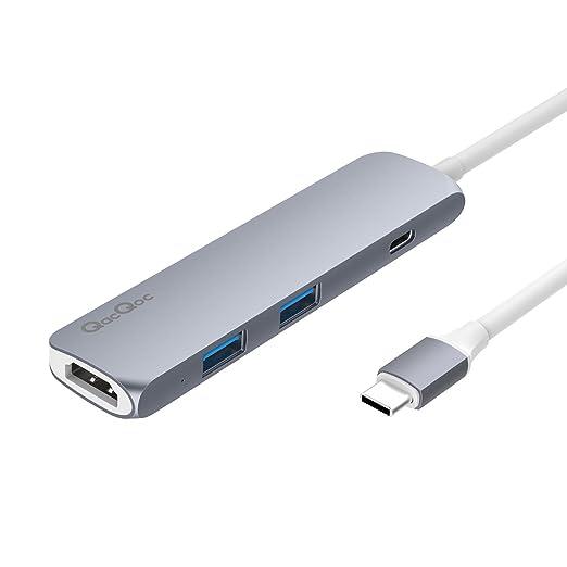 21 opinioni per QacQoc Adattatore USB C hub type C con 2 porte USB 3.0, 1 Slot HDMI 4K @30Hz, 1