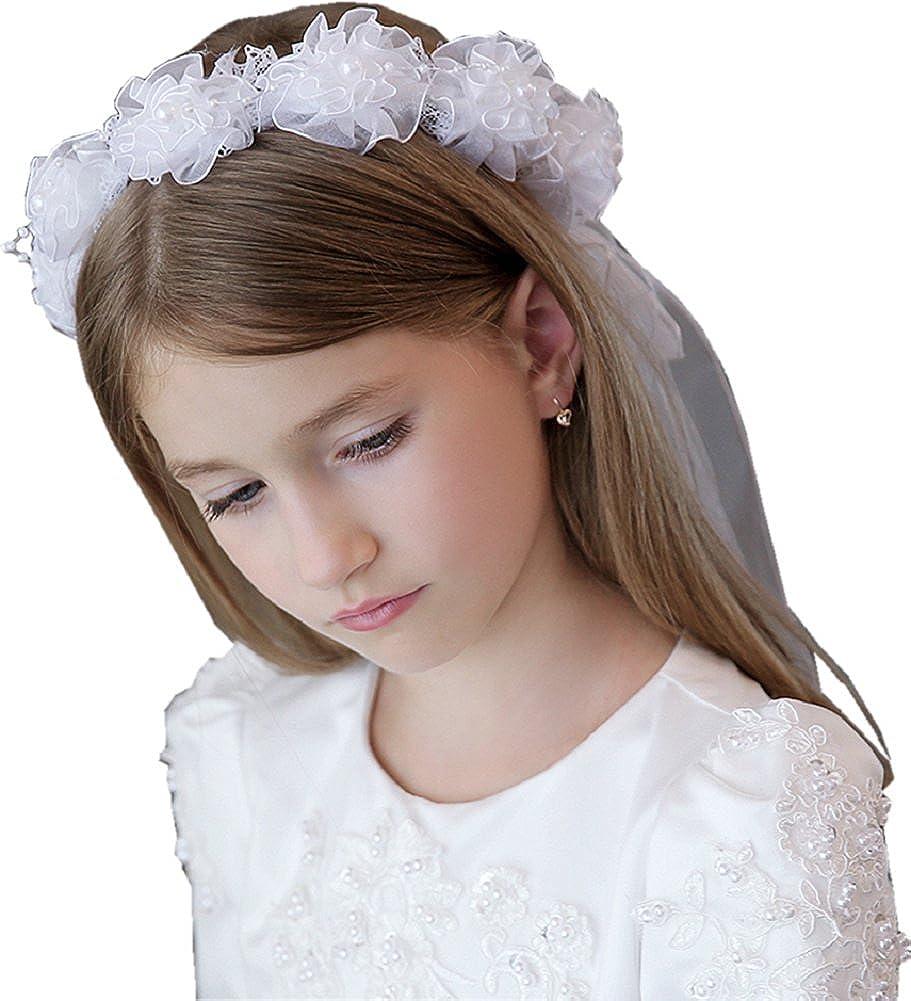 Shop Ginger Wedding Girls Headpiece Communion Wedding Party Ribbon Bow White