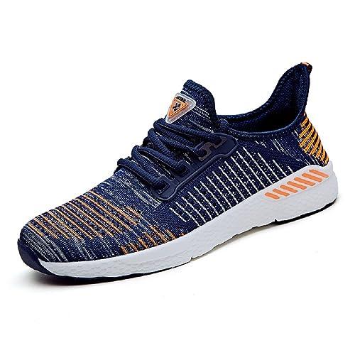 NEOKER Uomo Donna Scarpe da Sportive Running Basse Sneakers Arancia 41 fei5N1ubi