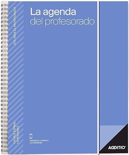 La Agenda del Profesorado Additio para el profesorado, 2019-20, colores aleatorios