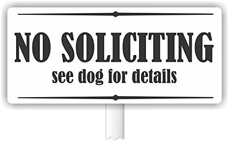 Amazon.com: No Soliciting ver detalles de perro para PVC al ...